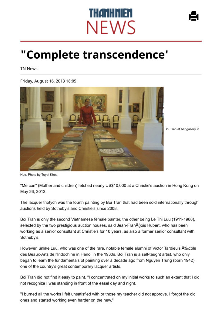 Complete transcendence' | Arts & Culture | Thanh Nien Daily